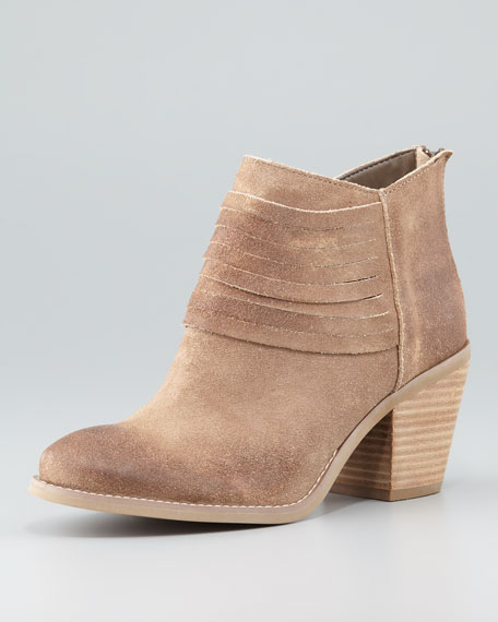 Devoted Leather Ankle Bootie, Taupe