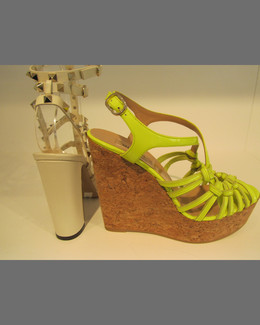 Valentino Kate Slipknot Cork Wedge Sandal