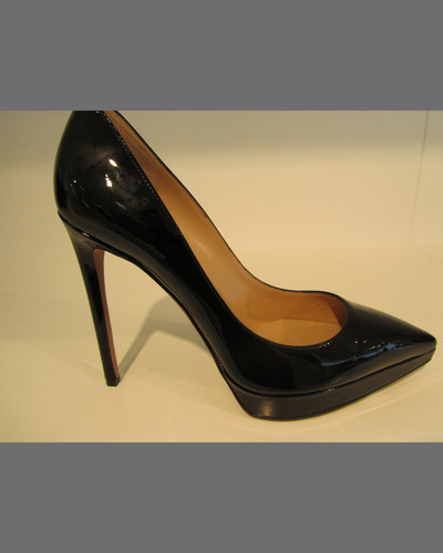 Valentino Patent Leather Platform Point-Toe Pump, Black