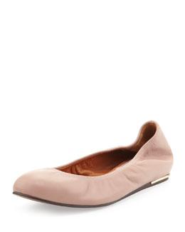 Lanvin Classic Lambskin Ballerina Flat, Nude