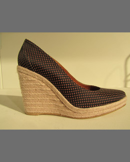 Lanvin Patterned Espadrille Wedge Pump