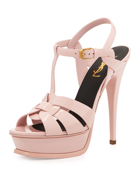 Tribute Patent Platform Sandal, Light Pink