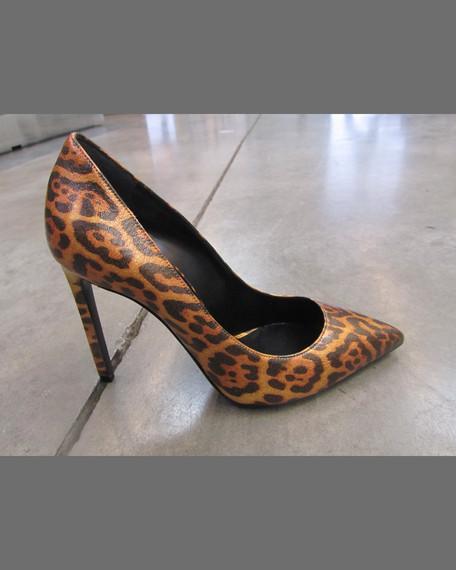 Paris Leopard-Print Leather Pump
