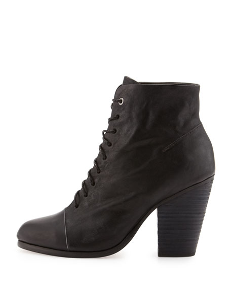 Miles Lace-Up Ankle Boot, Black