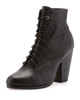 Rag & Bone Miles Lace-Up Ankle Boot, Black