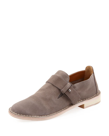 Milo Suede Slip-On Loafer, Charcoal