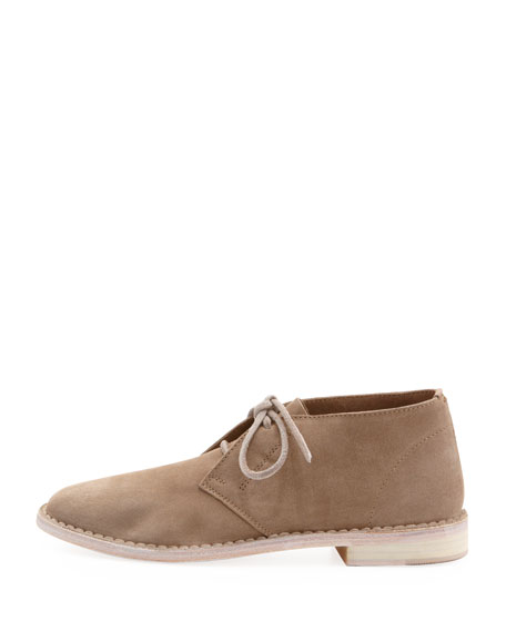 Miller Suede Lace-Up Loafer, Woodsmoke