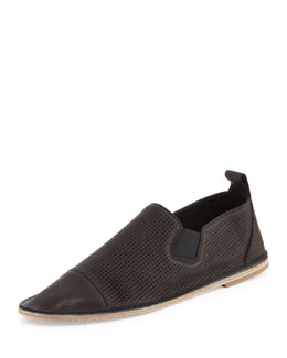 Vince Iona Perforated Leather Loafer, Black