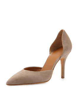 Vince Celeste d'Orsay Pointed-Toe Pump, Woodsmoke