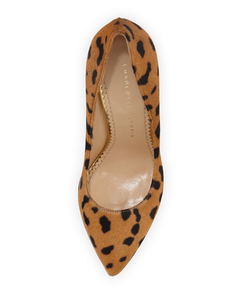 Monroe Animal-Print Calf Hair Pump