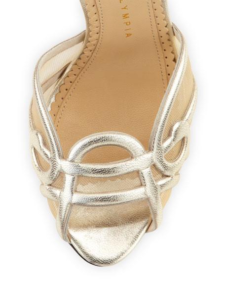 Sugar High Leather Swirl Sandal