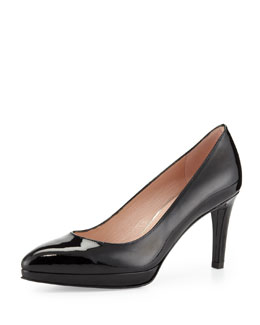 Stuart Weitzman Plato Patent Leather Pump, Black