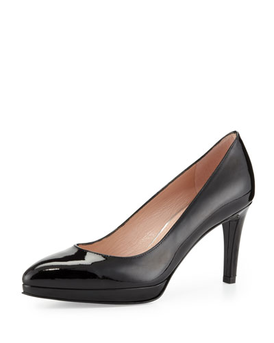 Plato Patent Leather Pump, Black