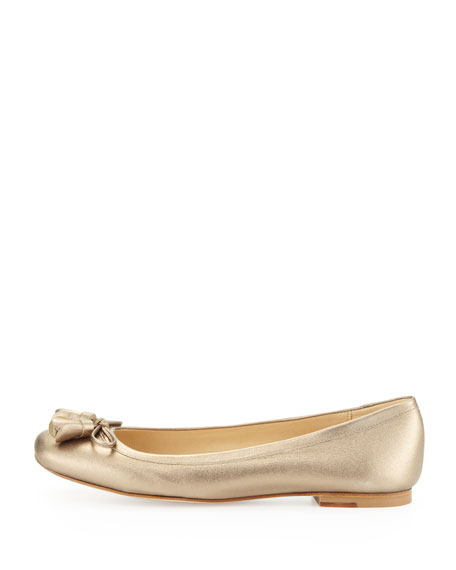 Tulipbow Metallic Ballet Flat, Ale Wash