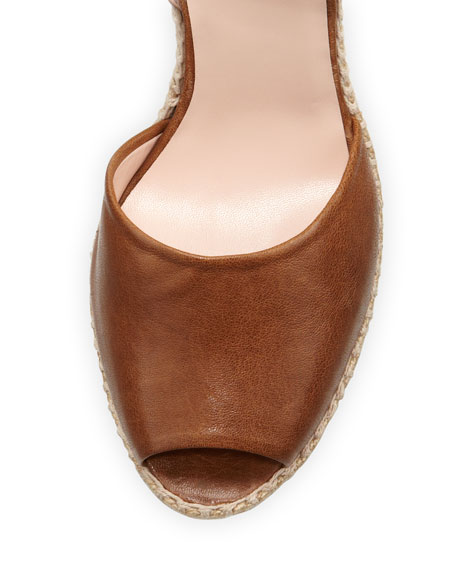 Waycool Leather Wedge Sandal, Toffee