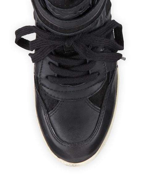 Beck Bis Mixed-Media Wedge Sneaker