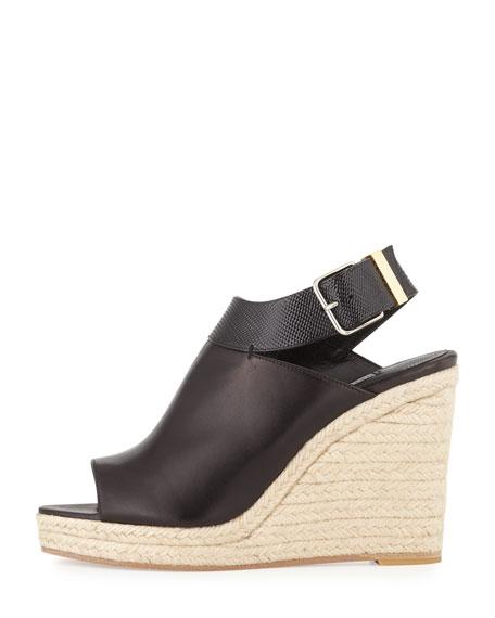 Slingback Glove Wedge Sandal, Black