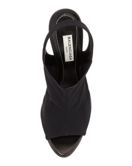 Mesh Glove Sandal, Black