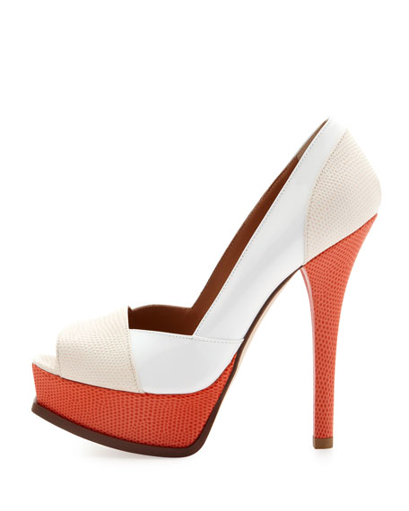 Fendista Colorblock Pump, Pink/Coral