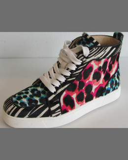 Christian Louboutin Rantus Orlato Animal-Print High-Top Sneaker, Multi