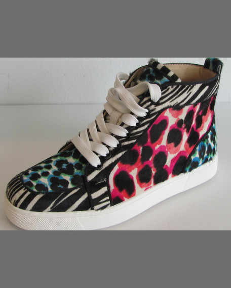 Rantus Orlato Animal-Print High-Top Sneaker, Multi