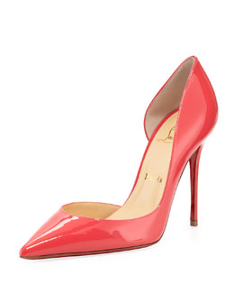 Christian Louboutin Iriza Patent Pointy d'Orsay Red Sole Pump, Pink