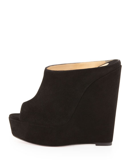 Christian Louboutin Suede Affiche Wedges discounts affordable cheap price S1XCjY6Gh