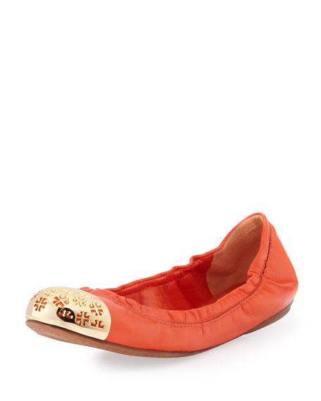 Cami Logo-Toe Ballerina Flat, Tiger Lily