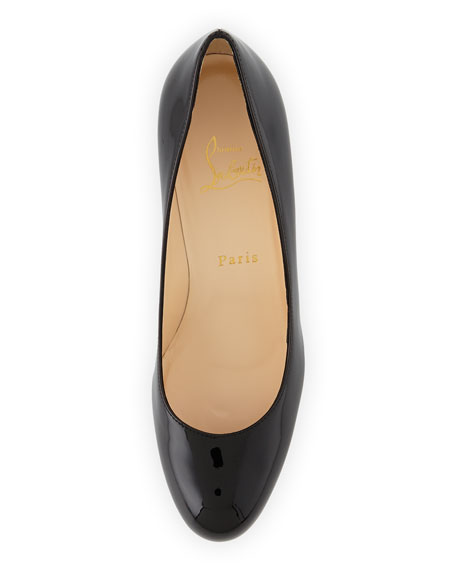 New Simple Patent Platform Red Sole Pump, Black