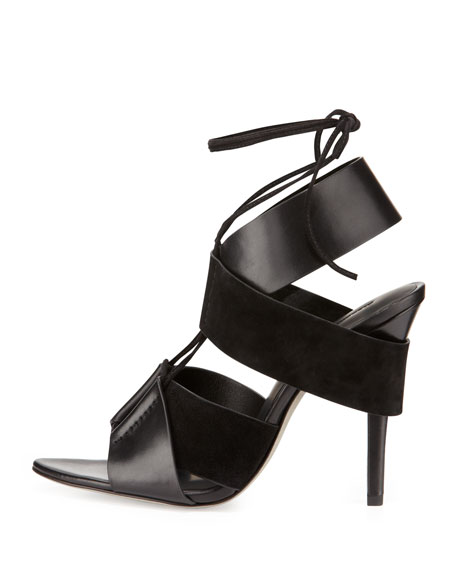 Malgosia Leather & Suede Sandal, Black