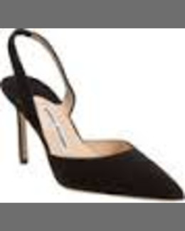Manolo Blahnik Carolyne Patent Low-Heel Pump, Black