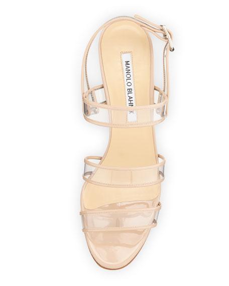 Meta Patent/PVC Wedge Sandal