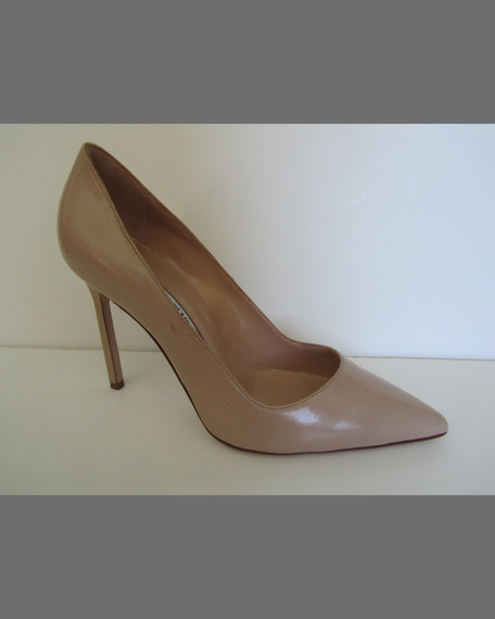 BB Suede 105mm Pump, Peach