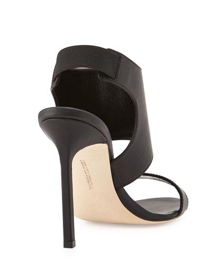 Loyal Patent High-Cut Sandal, Black