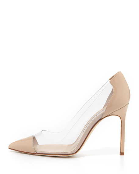 Manolo Blahnik Cap-Toe PVC Pumps discount visa payment cheap price fake looking for clearance latest collections footlocker finishline for sale QjnJBg