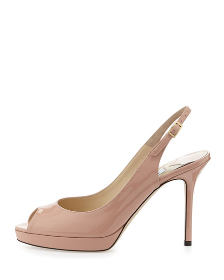Nova Patent Leather Slingback Pump, Blush