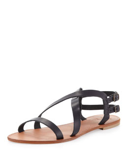 Joie Socoa Strappy Leather Sandal, Black