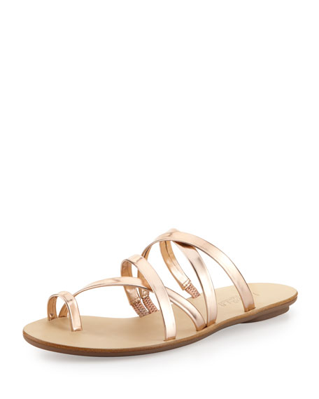 Sarie Metallic Toe-Ring Sandal