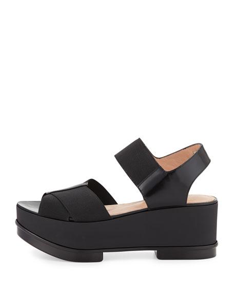 Crisscross Stretch Flatform Sandal