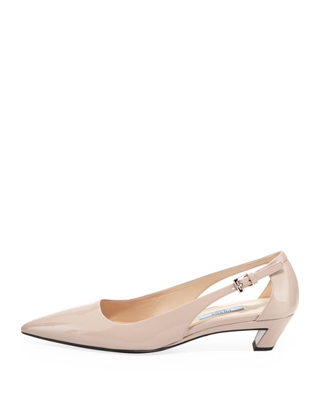 Vernice Pointed-Toe Cutout Pump, Cipria
