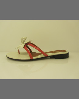Fendi Flat Flower Thong Sandal