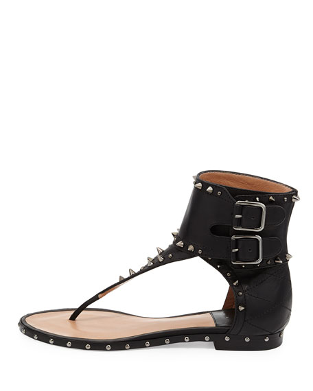 Flash Studded Cuffed Thong Sandal