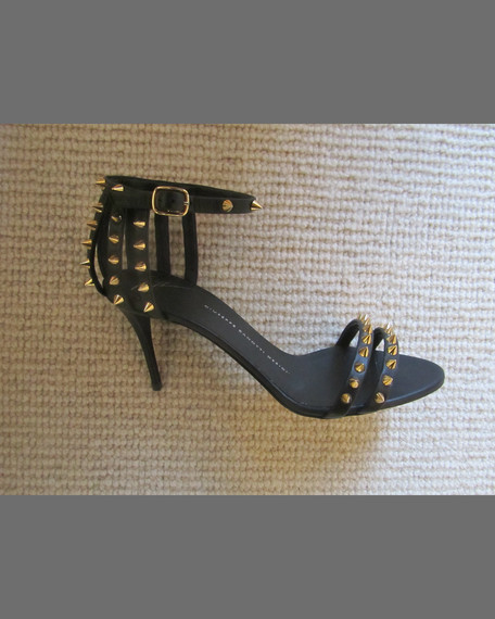 Spiked Cage-Heel d'Orsay Sandal