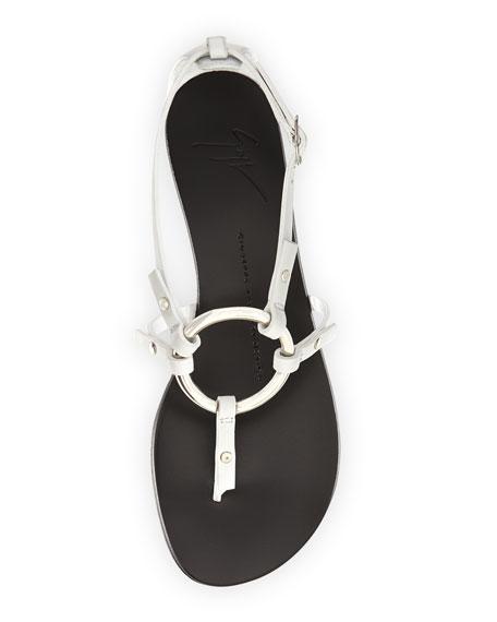 Flat Link Thong Sandal, White