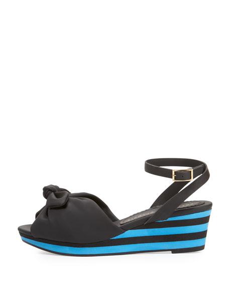 Alexa Rubber Wedge Sandal, Black