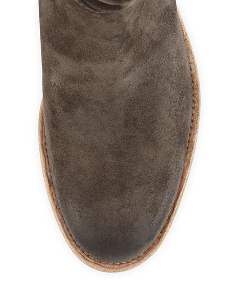 Umbria Slouchy Suede Bootie, Gray