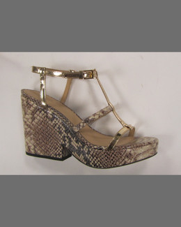 kate spade new york venezia snake-print platform sandal, brown