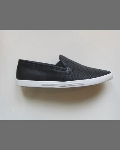 Joie Kidmore Snake-Print Skate Shoe, Black