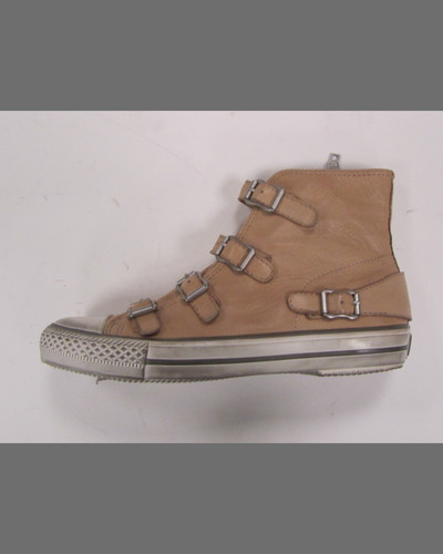 Ash Virgin Buckled High-Top Sneaker, Beige