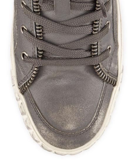 Shake Metallic High-Top Sneaker, Black/Silver